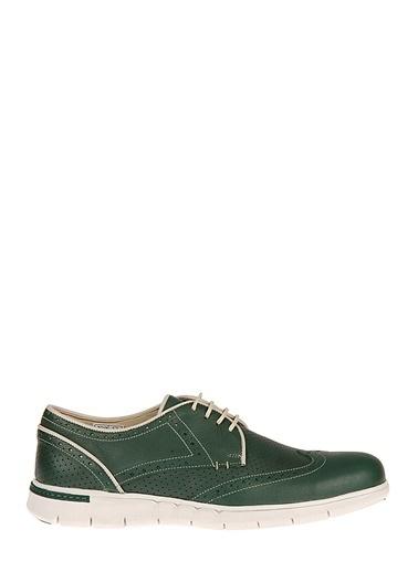 Ziya Hakiki Deri Günlük Ayakkabı Yeşil